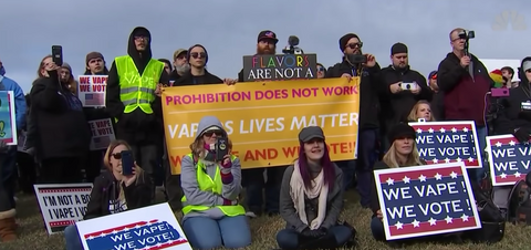 We vape we vote rally at the white house november 2019