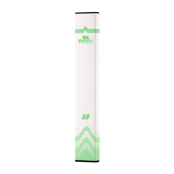 A DISPOSABLE VAPE BAR BY MR FREEZE FLAVORED WITH GREEN APPLE AND MINT IN 50MG