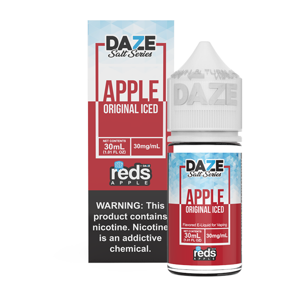 Apple flavored e-liquid from Reds, available for pod systems in 30mg by 7 daze