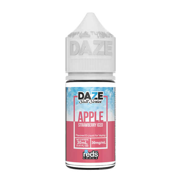 Apple and strawberry flavored e-liquid in 30mg from the reds collection, made by 7 daze