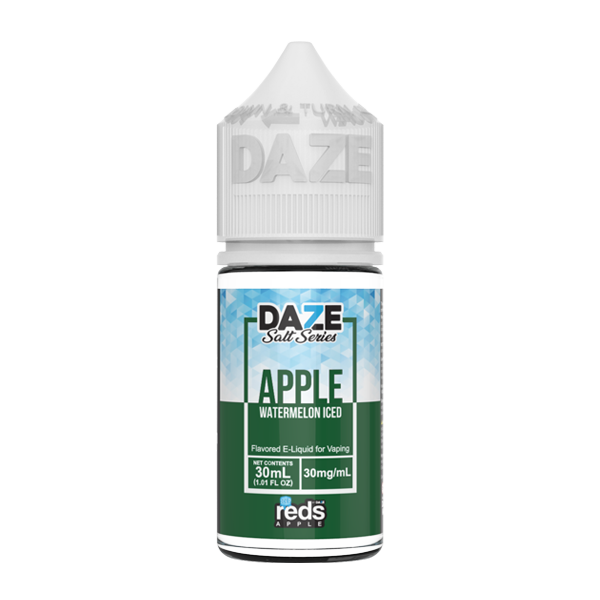 Apple and watermelon flavored e-liquid in 30mg from the reds collection, made by 7 daze