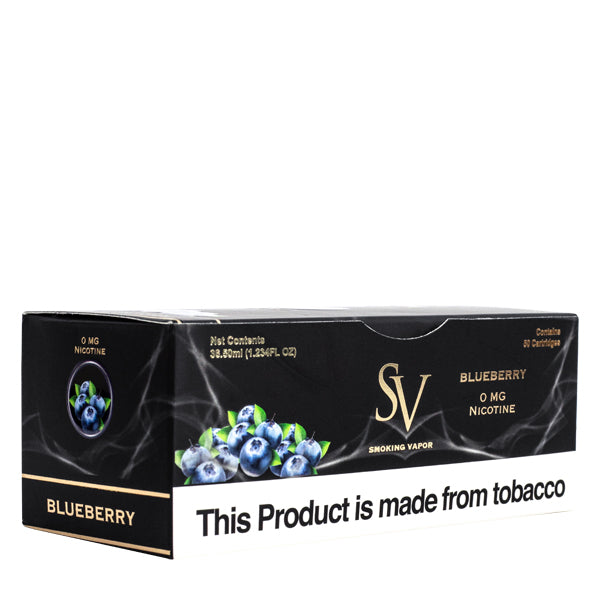 blueberry flavored replacement vape cartridge electronic cigarette by smoking vapor
