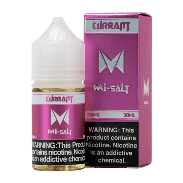 Currant Mi-Salt is a fruity flavored vape juice, blended with nicotine salts