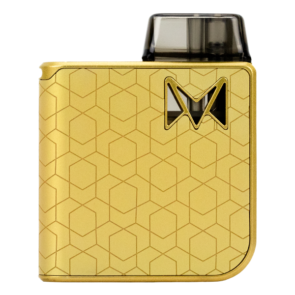 A luxurious collection of award winning pod systems for vaping, available here in Gold Alloy