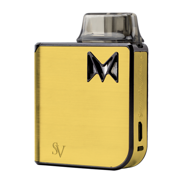 The Gold Metal Mi-Pod PRO, an extremely durable and reliable vaporizer pen for nic salts