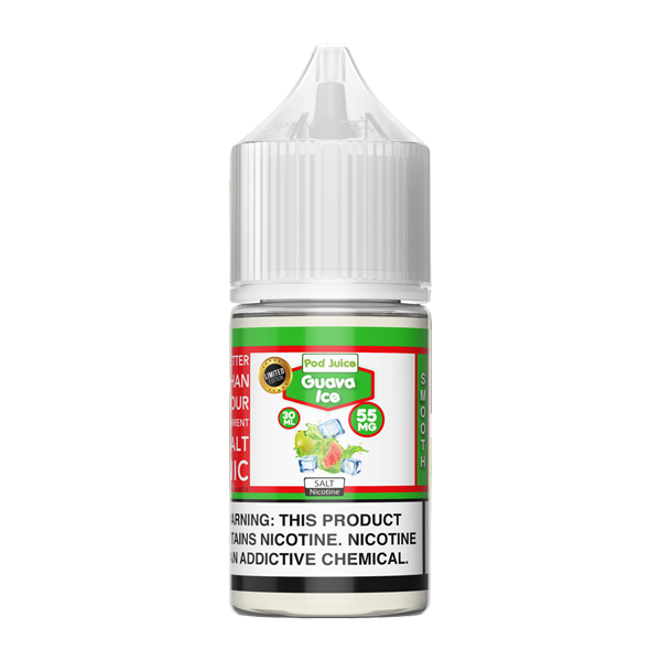 Shop for guava iced flavored vape juice made by Pod Juice available in multiple nicotine levels