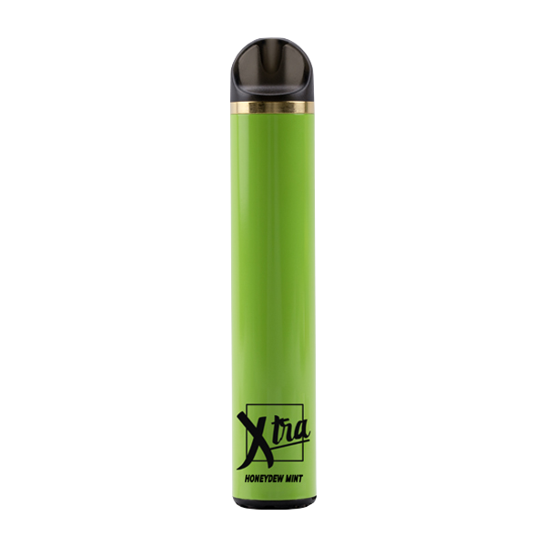 An iced & tangy honeydew flavored disposable vape, Honeydew Mint by Xtra