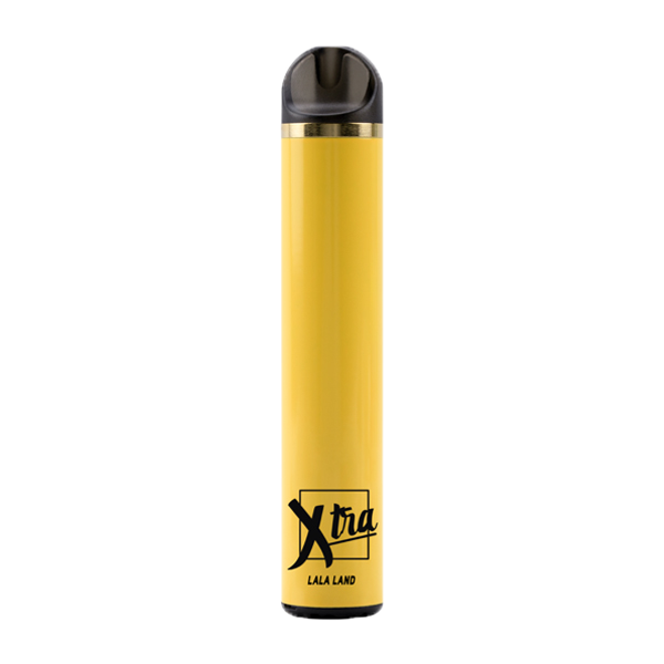 An Iced Banana flavored disposable vape pen, LaLa Land made by Xtra