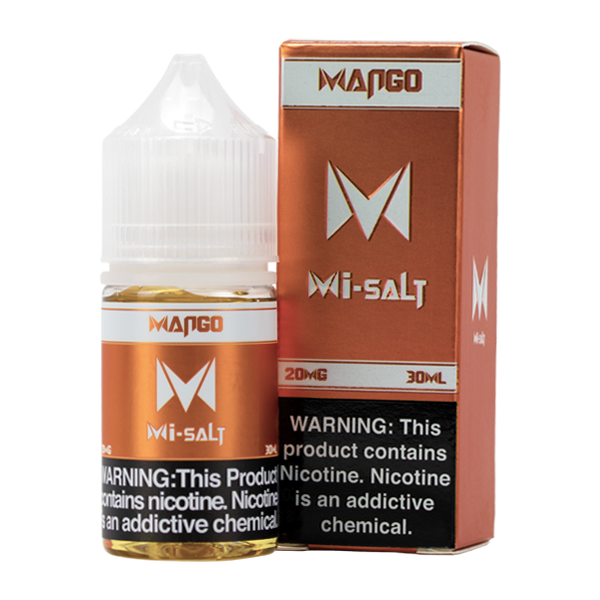 Mango Mi-Salt is a fruity flavored vape juice, blended with nicotine salts