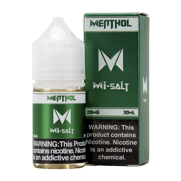 Menthol Mi-Salt is an icy menthol flavored vape juice, blended with nicotine salts