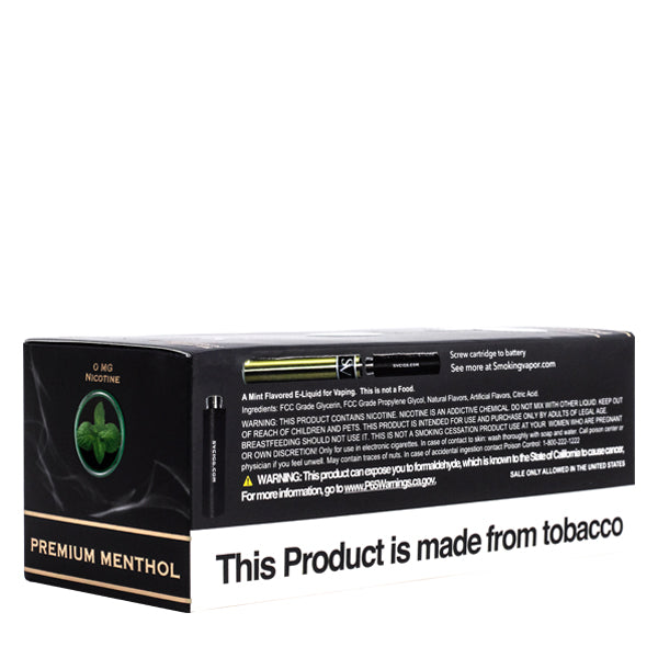 premium menthol flavored replacement vape cartridge electronic cigarette by smoking vapor