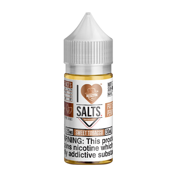 Earthy tobacco flavored nicotine salts in 25mg, Sweet Tobacco is an I Love Salts Eliquid