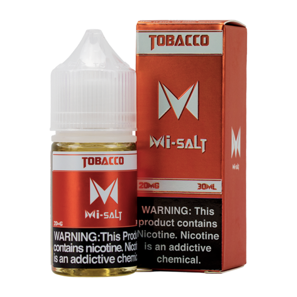 Tobacco Mi-Salt is a bold tobacco flavored vape juice, blended with nicotine salts