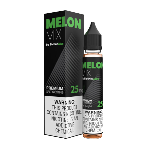 Crisp and fruity mixed melon flavored nicotine salts in 25mg, Melon Mix SaltNic is a V-GOD Eliquid