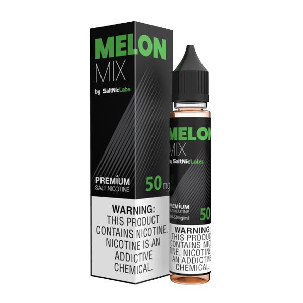 Crisp and fruity mixed melon flavored nicotine salts in 50mg, Melon Mix SaltNic is a V-GOD Eliquid