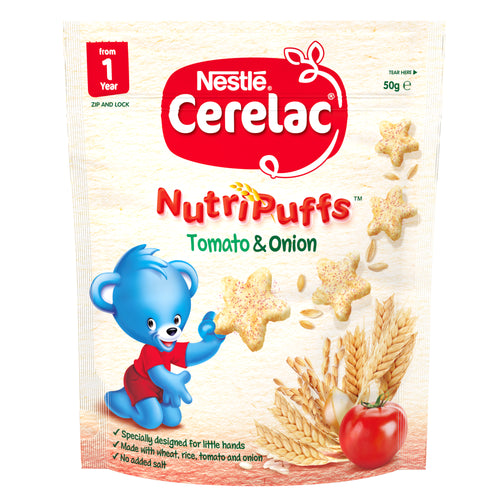 CERELAC Tomato & Onion NutriPuffs - 50g