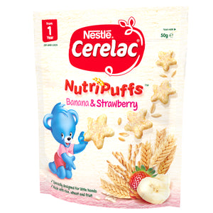 CERELAC Banana & Strawberry NutriPuffs - 50g
