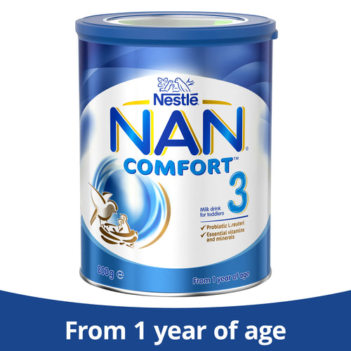 Nestlé NAN COMFORT 3, Toddler 1+ Year Milk Drink – 800g