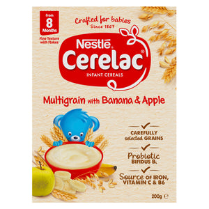 Nestlé CERELAC Multigrain with Banana & Apple Infant Cereal – 200g