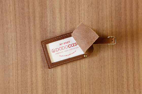 Privacy Leather Luggage Tag