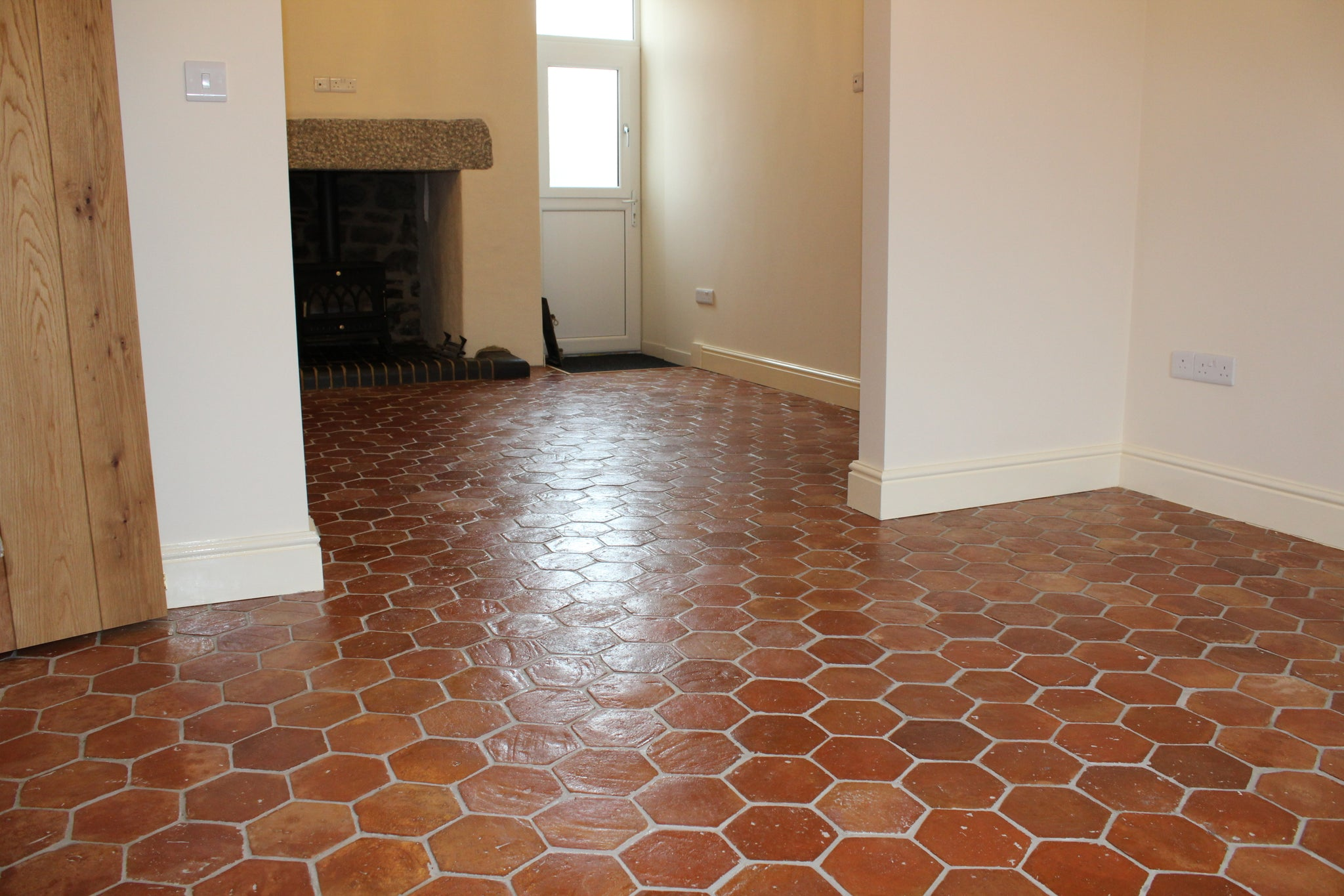 Rustic Presealed Hexagonal Terracotta 150x150x20mm