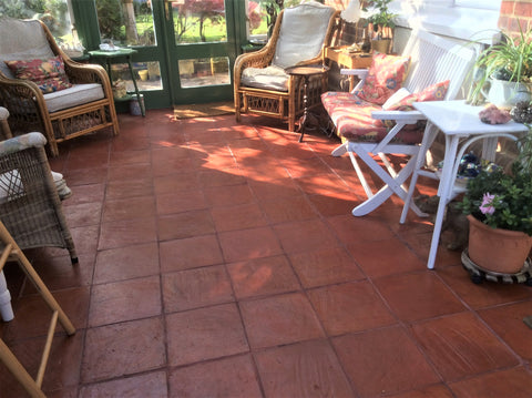 Rustic Unsealed Square Terracotta 300x300x20mm