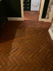 Rustic Unsealed Terracotta Parquet 75x300x20mm