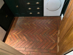 Rustic Unsealed Terracotta Parquet Tiles 75x300x20mm