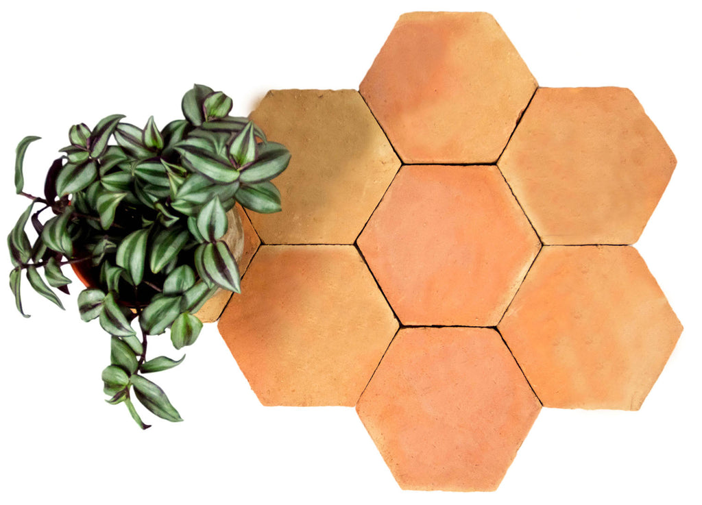 Rustic Unsealed Hexagon 200x200x20mm