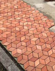 Rhombus Geometric Terracotta 110x110x200x15mm (Delivery end of  May)