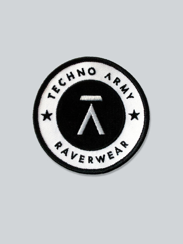 Runder Techno Army Patch Aufnäher