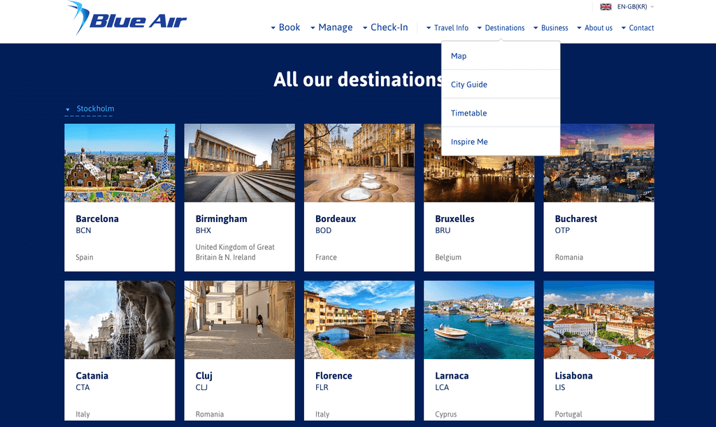 Blue Air  with ArrivalGuides