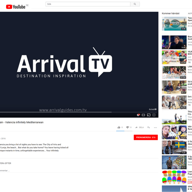 ArrivalTV ─ in SmartTV apps across the world