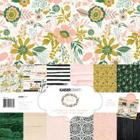 Kaisercraft Fleur Paper Pack with bonus sticker sheet 12x12