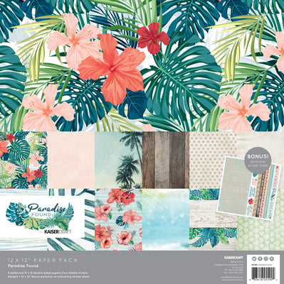Kaisercraft Paradise Found Paper Pack with bonus sticker sheet 12x12