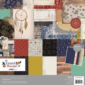 Kaisercraft Grand Bazaar Paper Pack with bonus sticker sheet 12x12