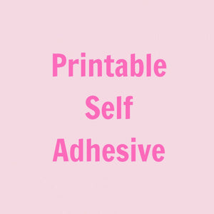 graphic about Printable Self Adhesive Vinyl Roll named Inkjet Printable Self Adhesive Vinyl - 30cm x 1m Roll