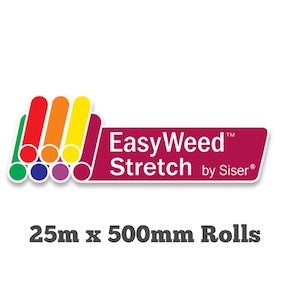Siser Stretch P.S / Easyweed HTV 500m x 25m Rolls BLACK (inc delivery)