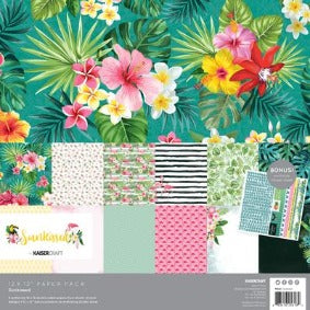 Kaisercraft Sunkissed Paper Pack with bonus sticker sheet 12x12