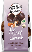 Load image into Gallery viewer, Dried Figs stuffed with Almonds & covered in 70% Belgian Dark Chocolate