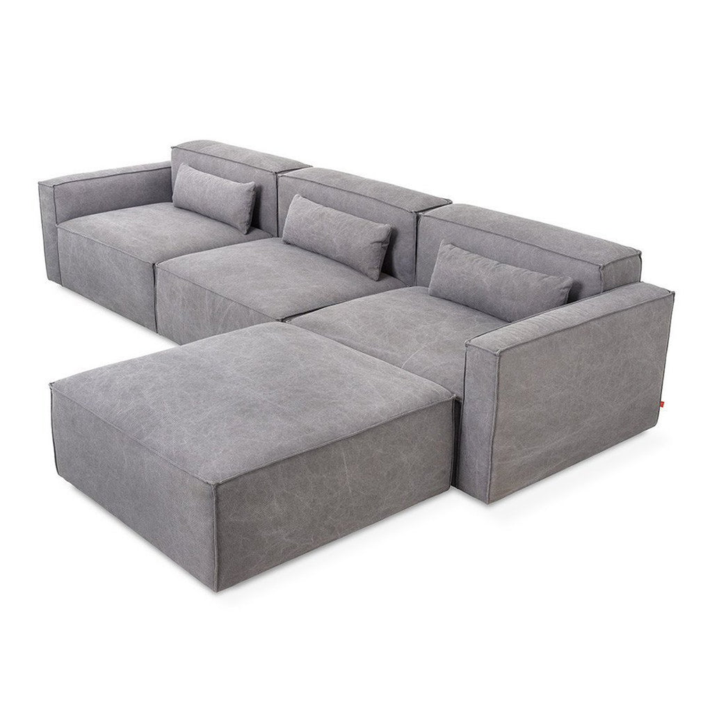 Mix Modular Sectional 4-pc | Vintage Smoke