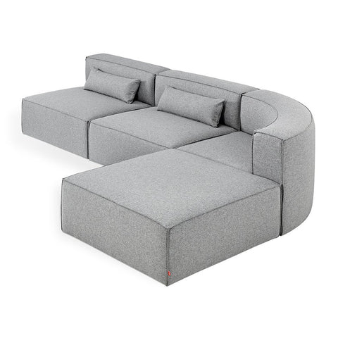Mix Modular 4-PC Wedge Sectional