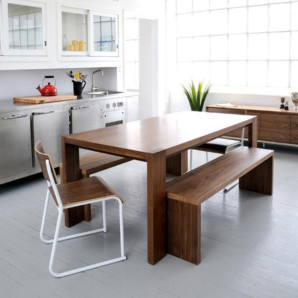 Plank Table Bench Dining Table Gus Modern