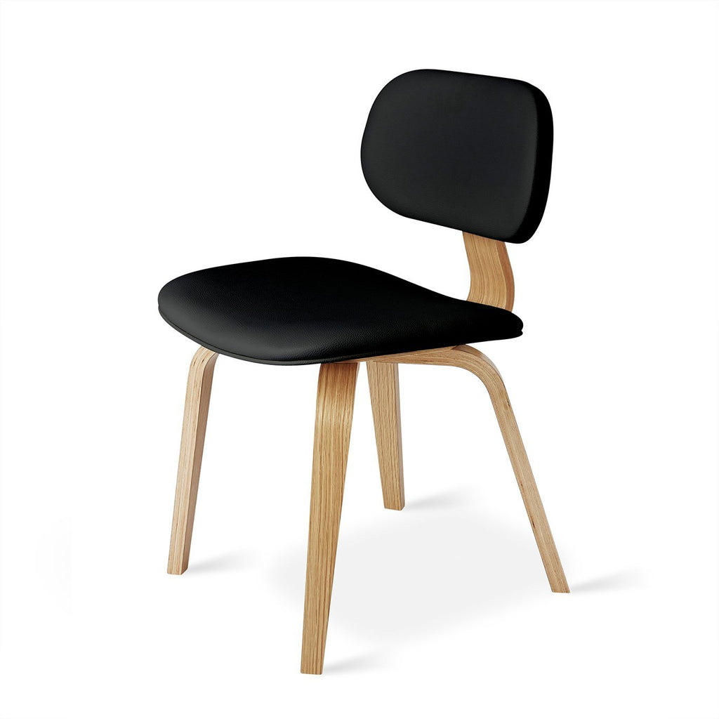 Thompson Chair | Natural Oak & Vinyl Coal