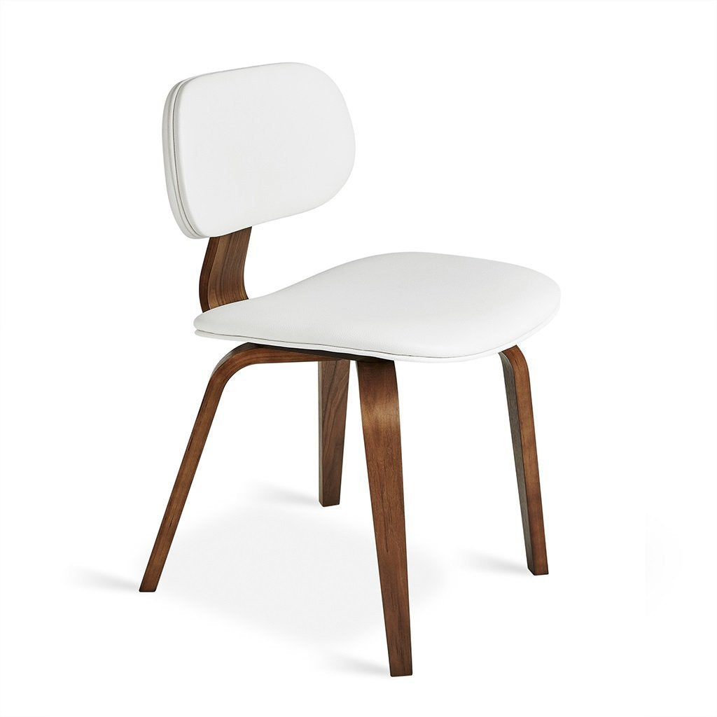 Thompson Chair | Walnut & Vinyl Snow