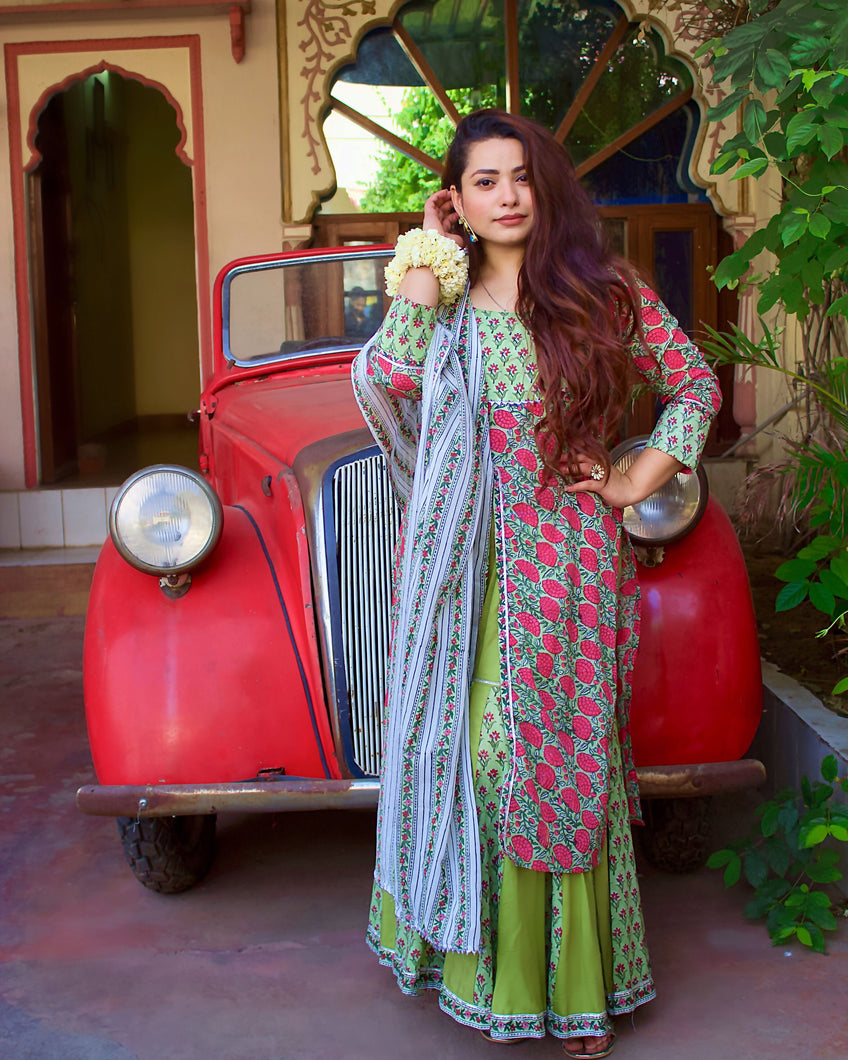 Gulmohar Garara Set - qamsin-a-timeless-beauty