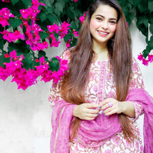 Load image into Gallery viewer, Purple Pastel Phool Jaal Suit Set - Pink Official