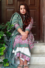 Load image into Gallery viewer, Mughal Dark Teal Floral Suit Set - Pink Official