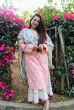Load image into Gallery viewer, Peach Khadi Print Suit Set - Qamsin