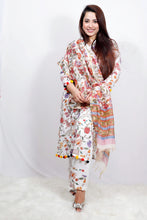 Load image into Gallery viewer, Phool Jaal Pom Pom Suit Set - Qamsin